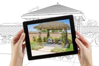 a picture of a completed home by Geelong Carports in a frame